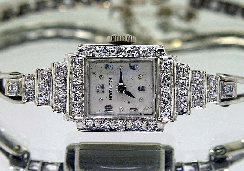 Antique Hamilton Diamond Bracelet Watch